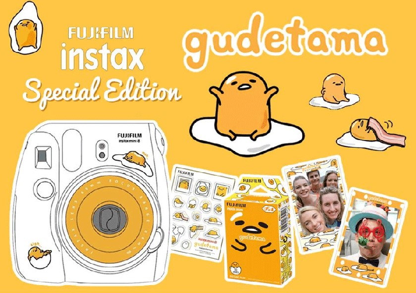 Tokyo Treat Giveaway: Gudetama Fujifilm Instax mini 8 camera